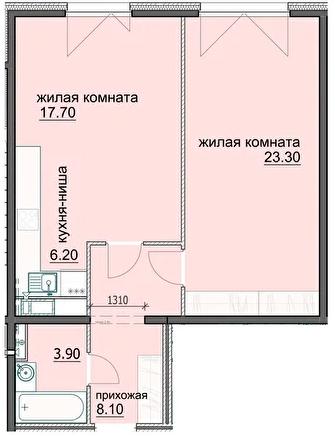 """2 комнатная с ремонтом 59,2 кв.м. (ЖК """"Лугометрия"""")"""